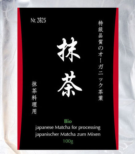 Bio-Matcha for mixing, 100g Aromabeutel, zip-Verschluss - Japan